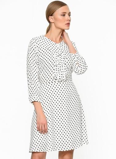 Puantiyeli Kloş Elbise-Setre